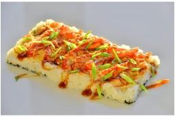 Суши пицца с креветкой