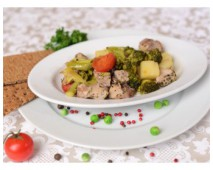 Свинина с овощами Диета