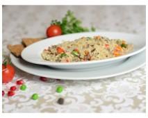 Рис буро-дикий с овощами