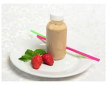Смузи с клубникой и мятой на миндальном молоке