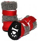 Зимние удобные ботинки для собак