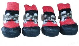 Носочки для улицы с резиновой подошвой sock shoes-black