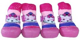 Носочки для улицы с резиновой подошвой sock shoes