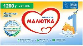 Молочная смесь Малютка Малютка 1 0-6 месяцев, 1200 г, 1 шт.