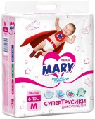 Трусики-подгузники Mary M, 58 шт, 6-10 кг.
