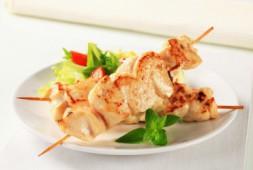 Шампур шашлыка из куриного филе
